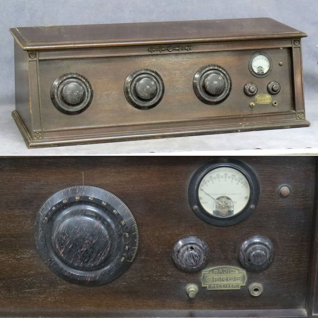 GAROD MODEL V NEUTRODYNE 5-TUBE BATTERY RADIO