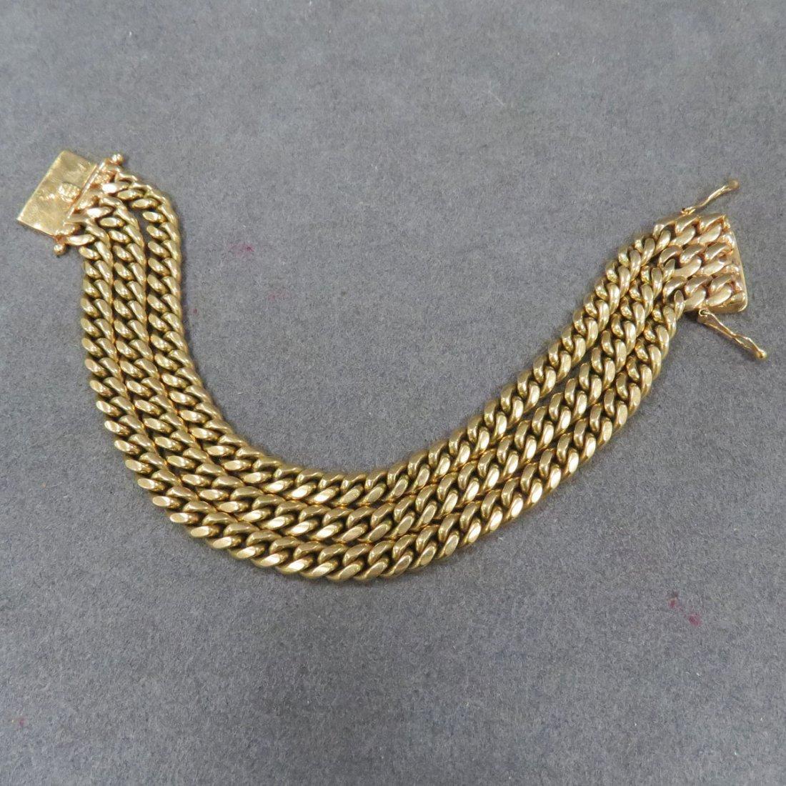 14K YELLOW GOLD MULTI-CHAIN BRACELET