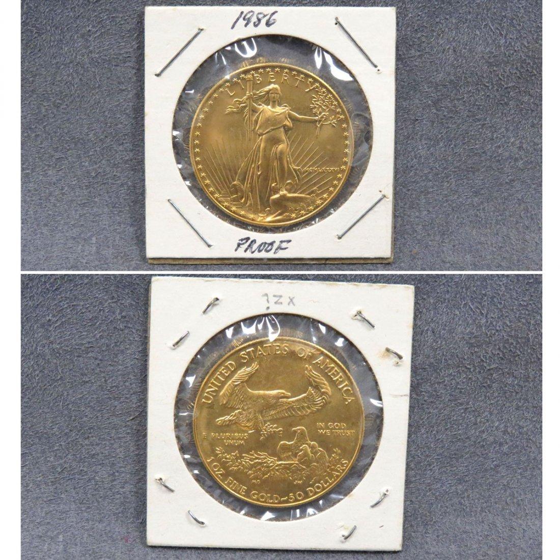 1986 US $50.00 GOLD EAGLE COIN