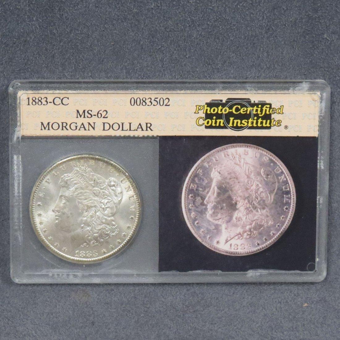 1883-CC MORGAN SILVER DOLLAR (MS-62)