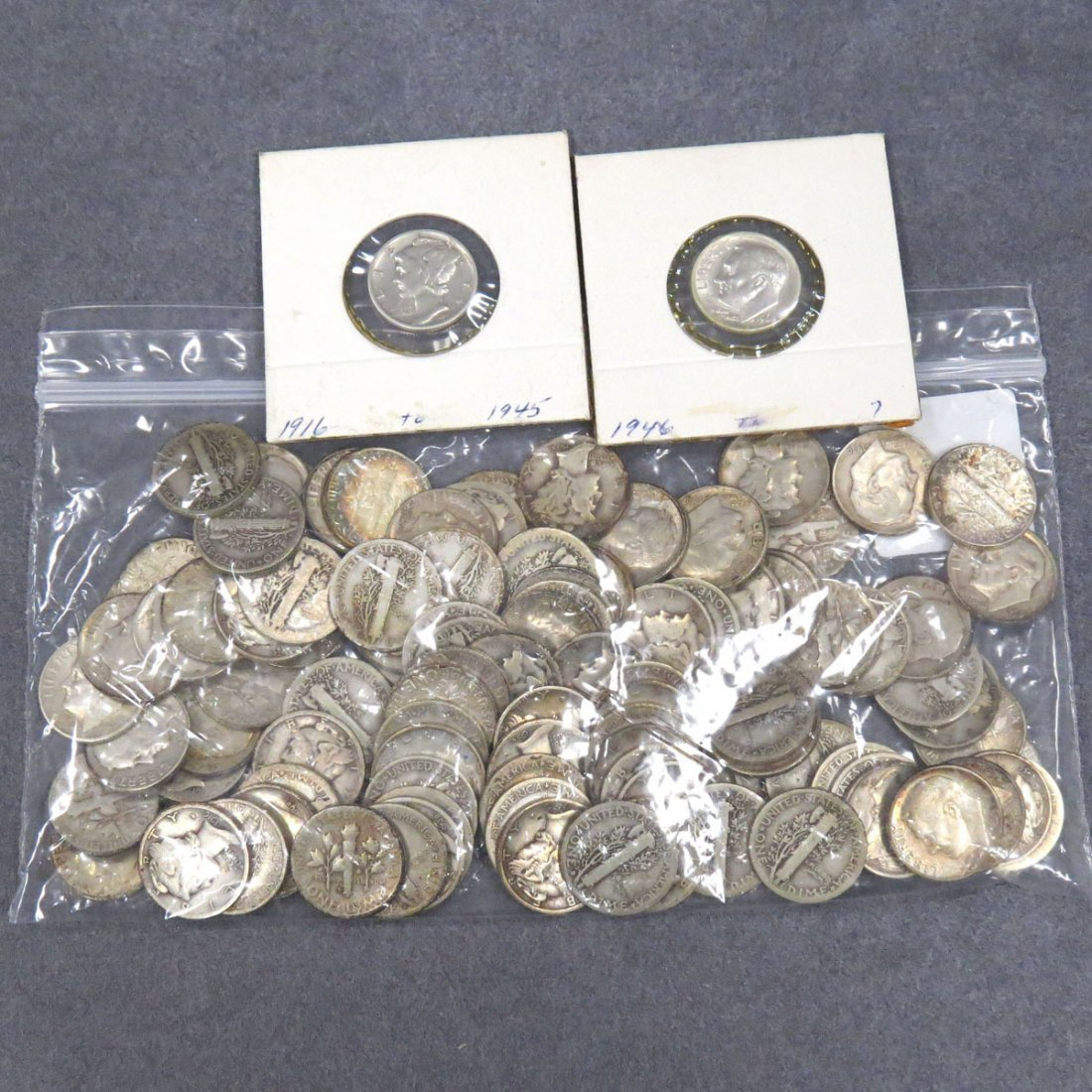 LOT (112) MERCURY AND ROOSEVELT SILVER DIMES