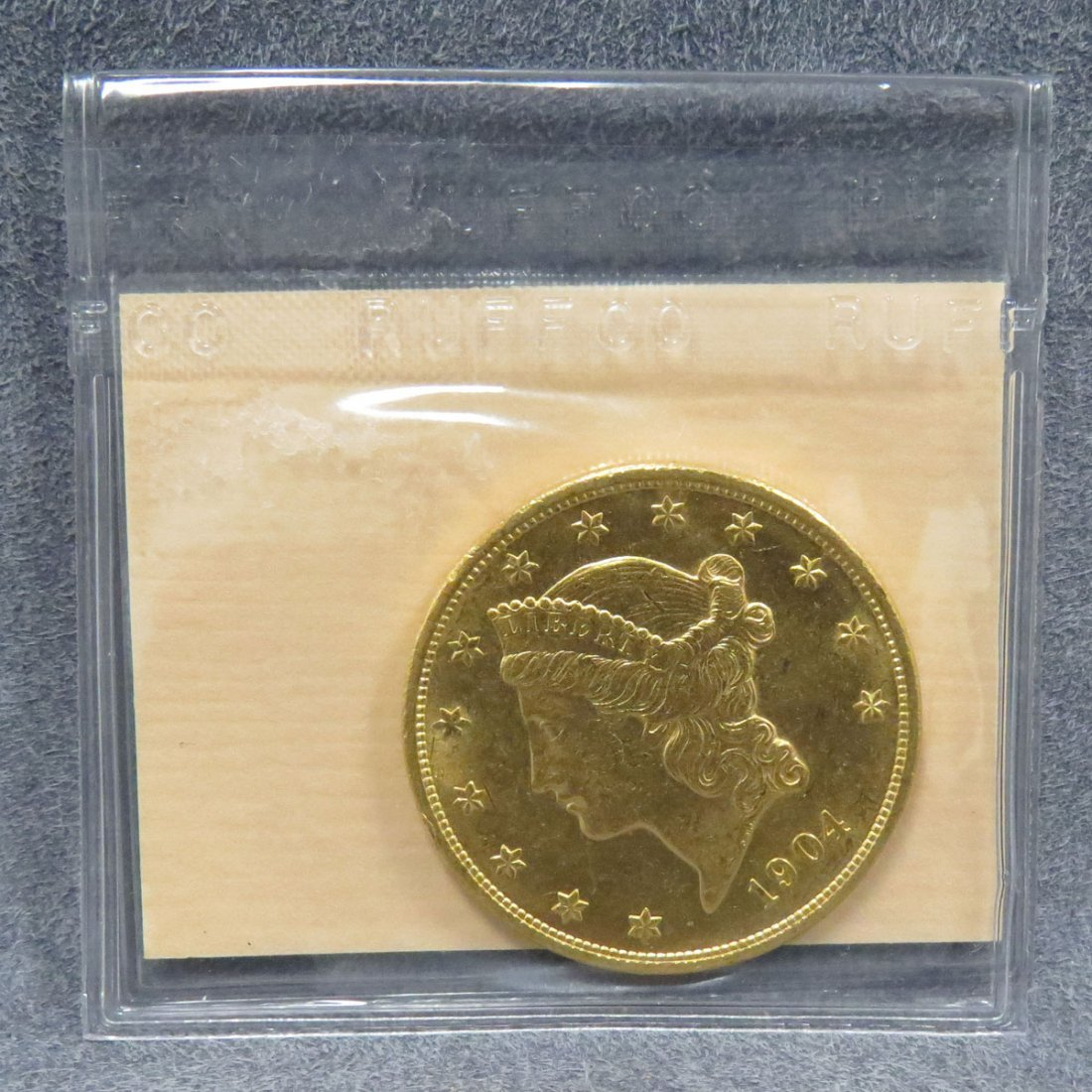 1904 US $20.00 GOLD DOUBLE EAGLE COIN (MS-60)