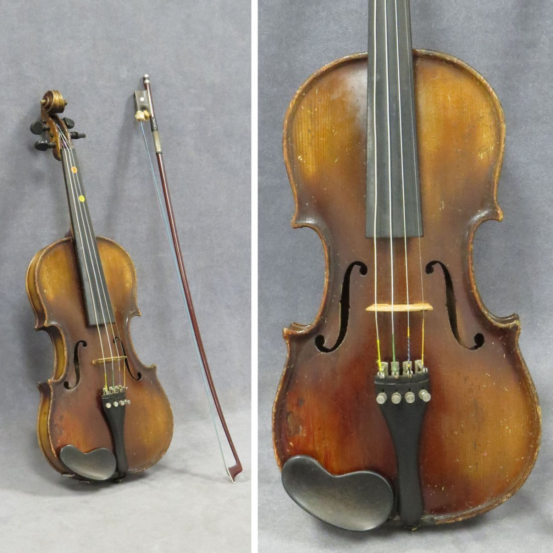 VINTAGE GERMAN YOUTH'S VIOLIN AND BOW (WITH CASE)