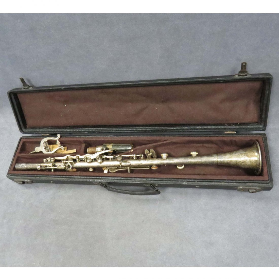 VINTAGE SILVER PLATED CLARINET
