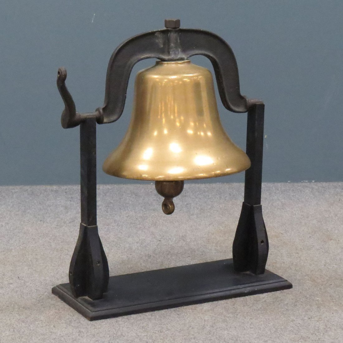 BRONZE LOCOMOTIVE BELL WITH STAND