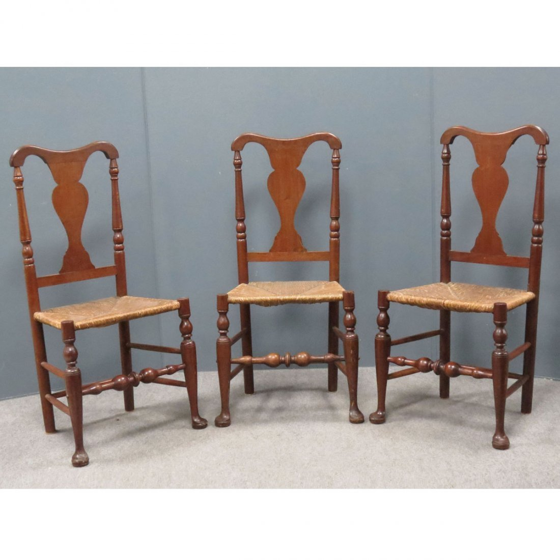 LOT (3) HUDSON VALLEY QUEEN ANNE STYLE CHAIRS