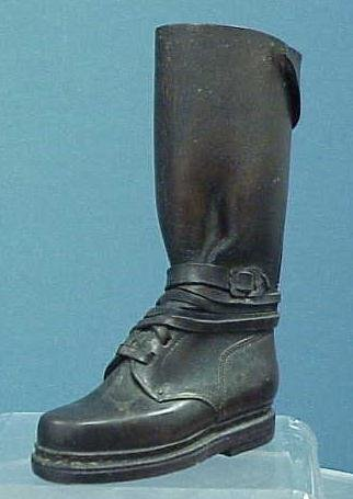 2: FINE EARLY LEATHER SALESMAN'S SAMPLE BOOT