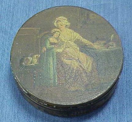 6: FRENCH DECORATED METAL SNUFF BOX