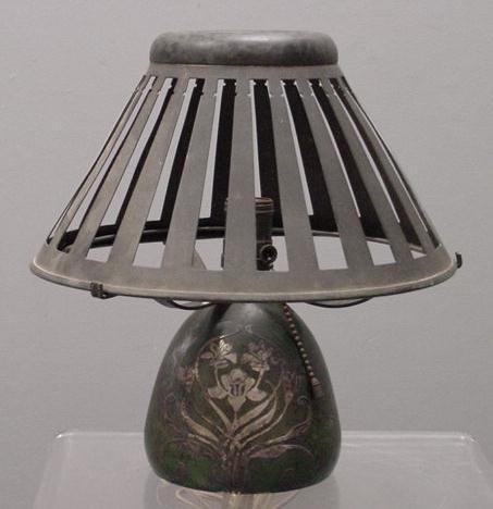 10: HEINZ ART STERLING/BRONZE  TABLE LAMP
