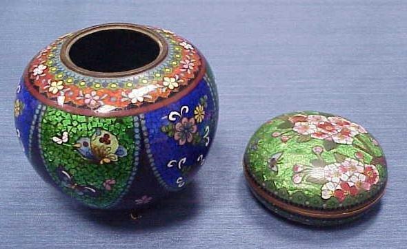 13: LOT (2) JAPANESE CLOISONNE JARS