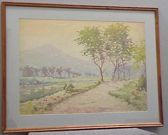 20: WATERCOLOR, SIGNED JULES HIRSCH
