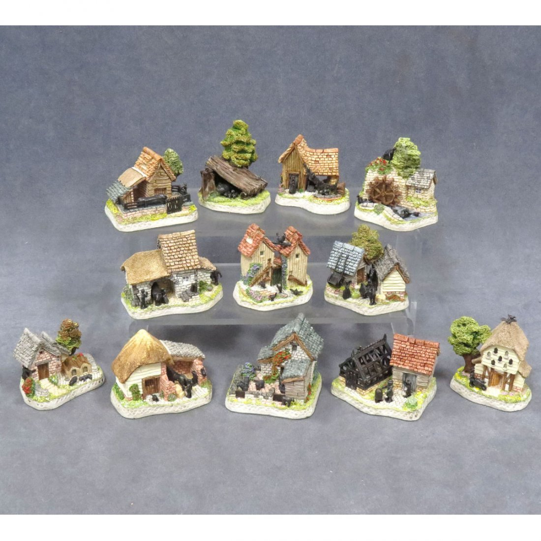 """SET (12) DAVID WINTER """"THE SHIRES"""" COLLECTION"""