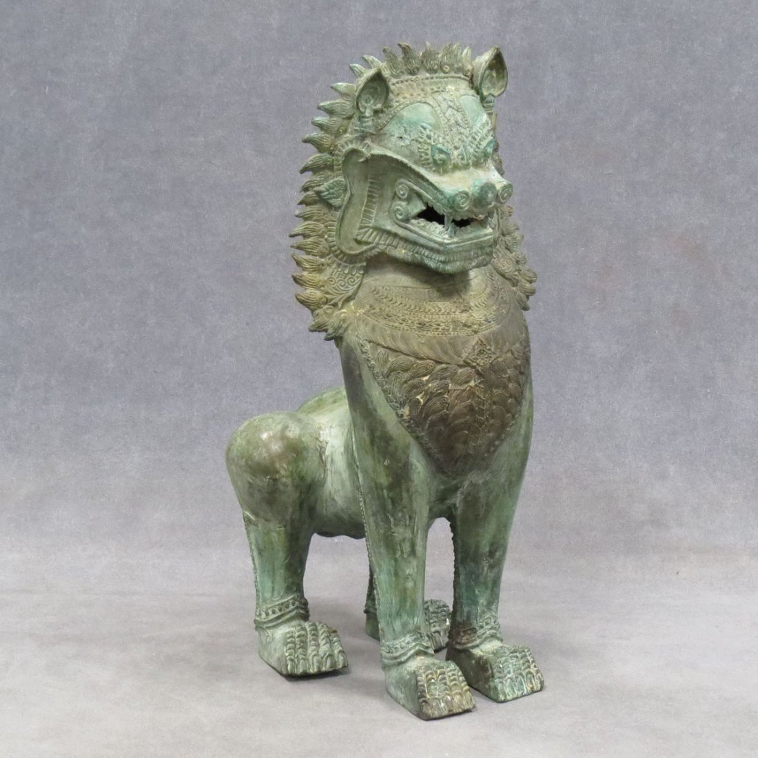 S.E. ASIAN BRONZE LION.
