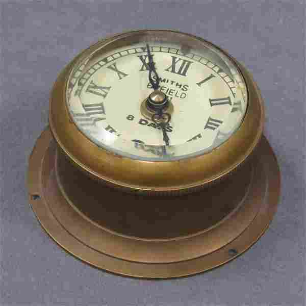 SMITH'S ENFIELD BRASS 8-DAY SHIP'S CLOCK, 1911