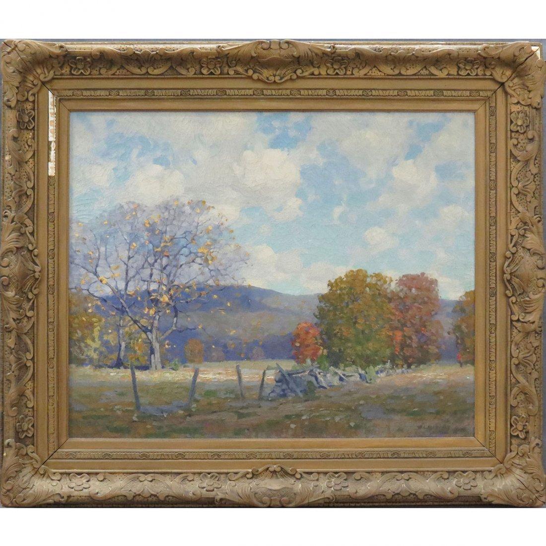 WILLARD LEROY METCALF (AMERICAN/NY 1858-1925), OIL