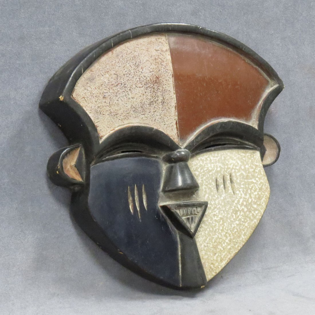 AFIKPO, NIGERIA CARVED AND PAINTED MASK
