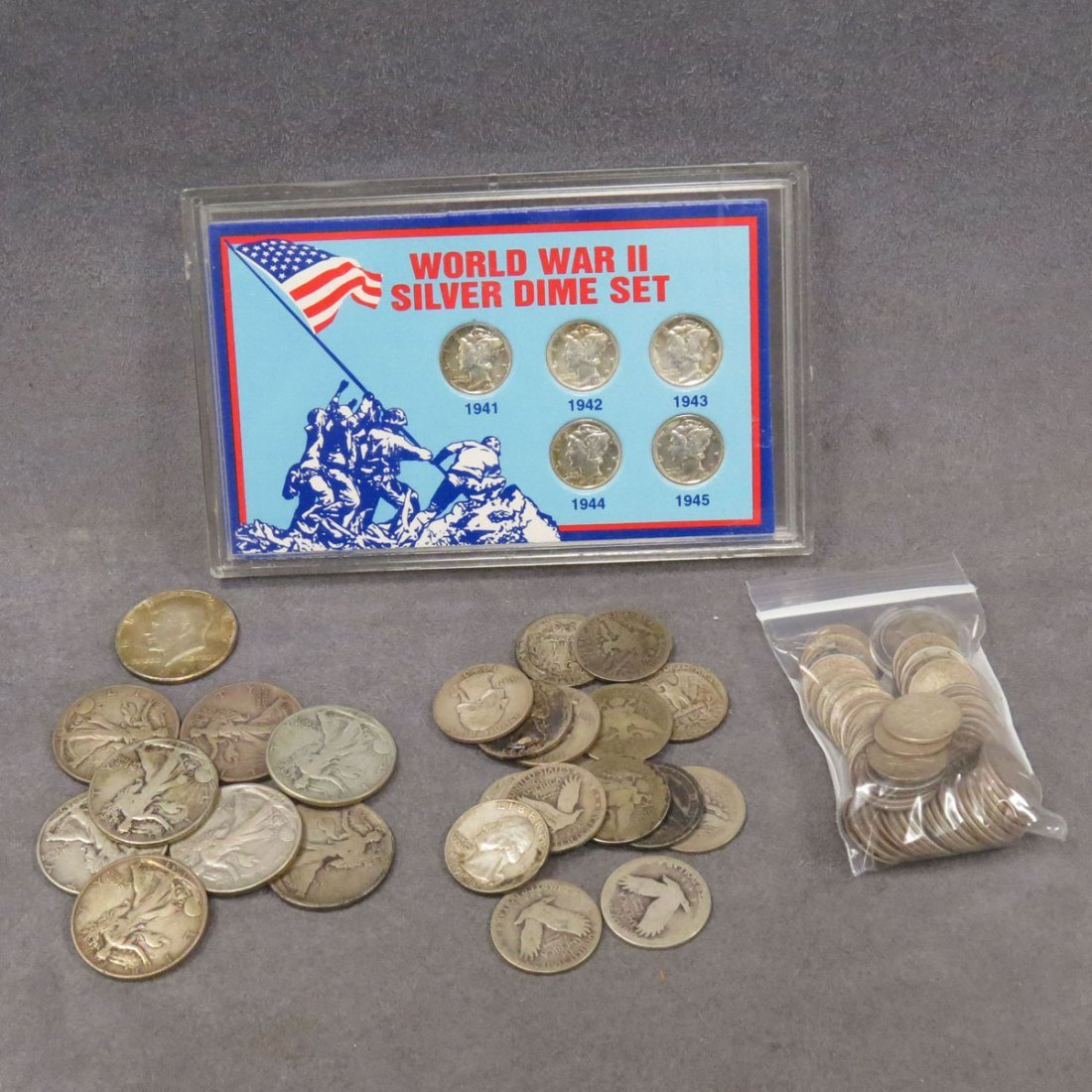 LOT (91) ASSORTED US SILVER COINS