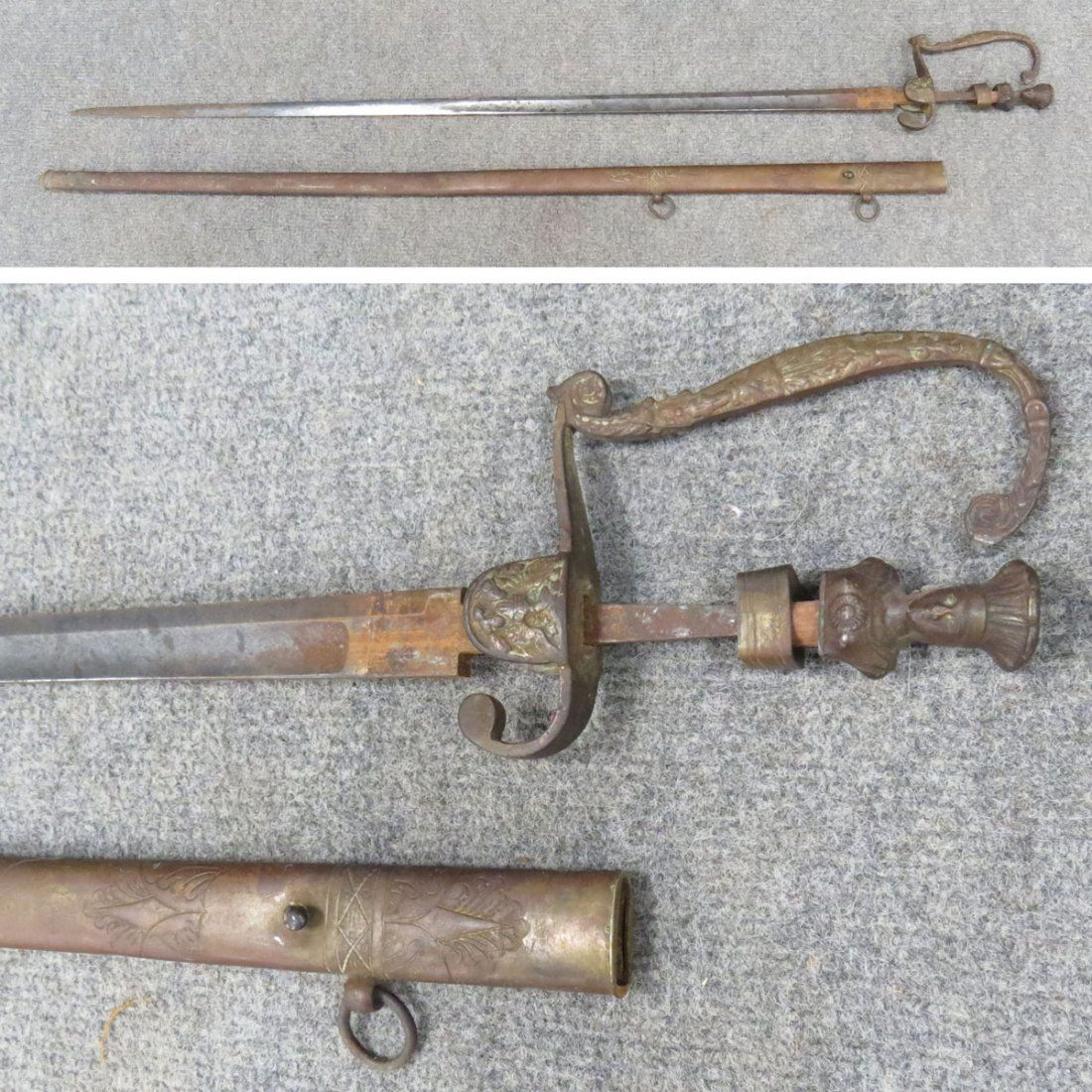 CLASSIC INDIAN PRINCESS AMERICAN MILITIA SWORD