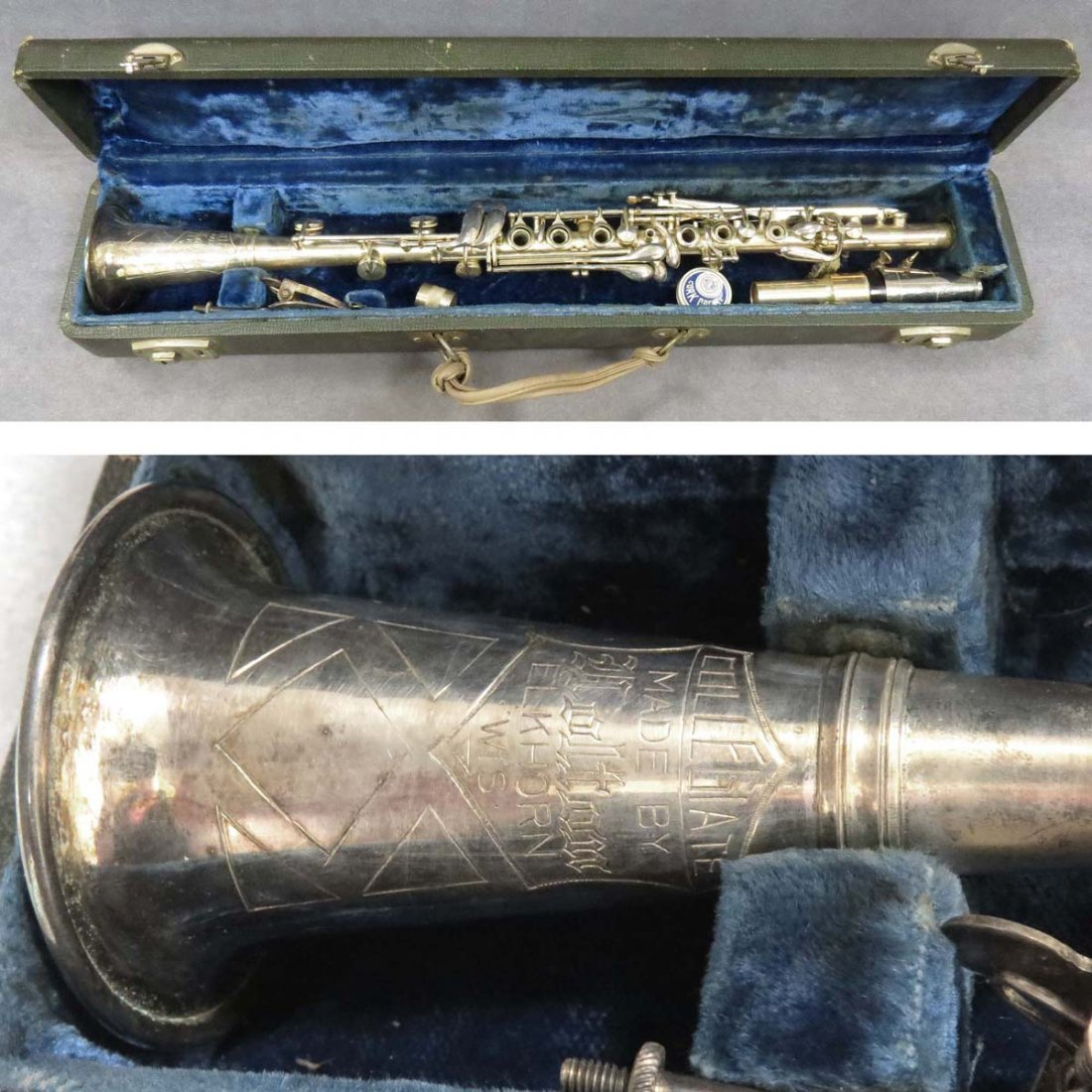VINTAGE HOLTON ELKHORN, SILVER PLATED CLARINET