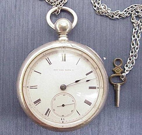 6: NEW YORK WATCH COMPANY COIN SILVER POCKET