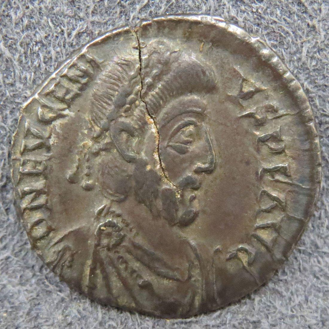 ROMAN EMPIRE, EUGENIUS AR SILIQUA, 392-395 AD