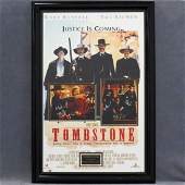 TOMBSTONE MOVIE POSTER WITH INSET PHOTOS