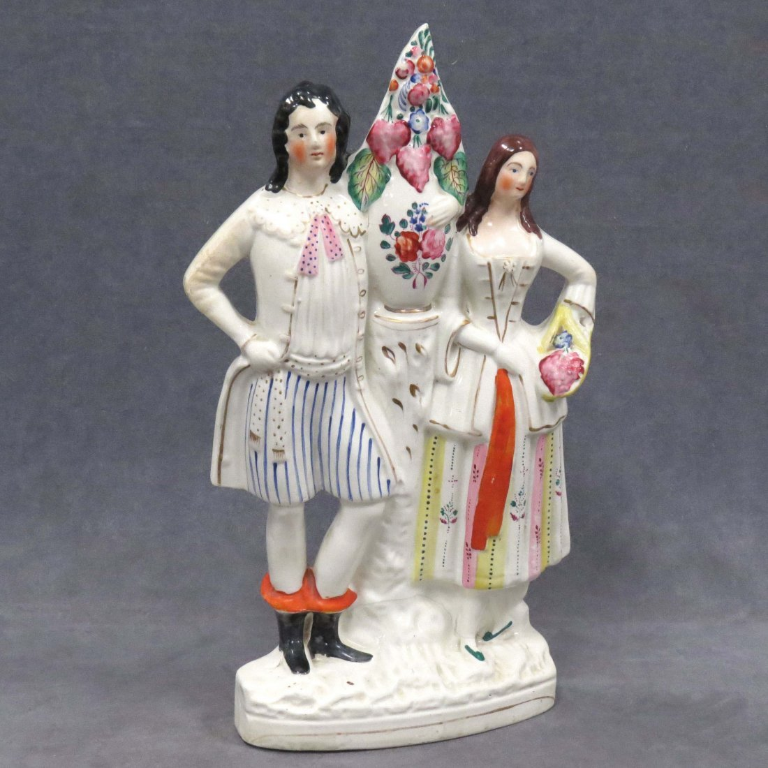 STAFFORDSHIRE POTTERY FIGURAL GROUP, 19TH CENTURY