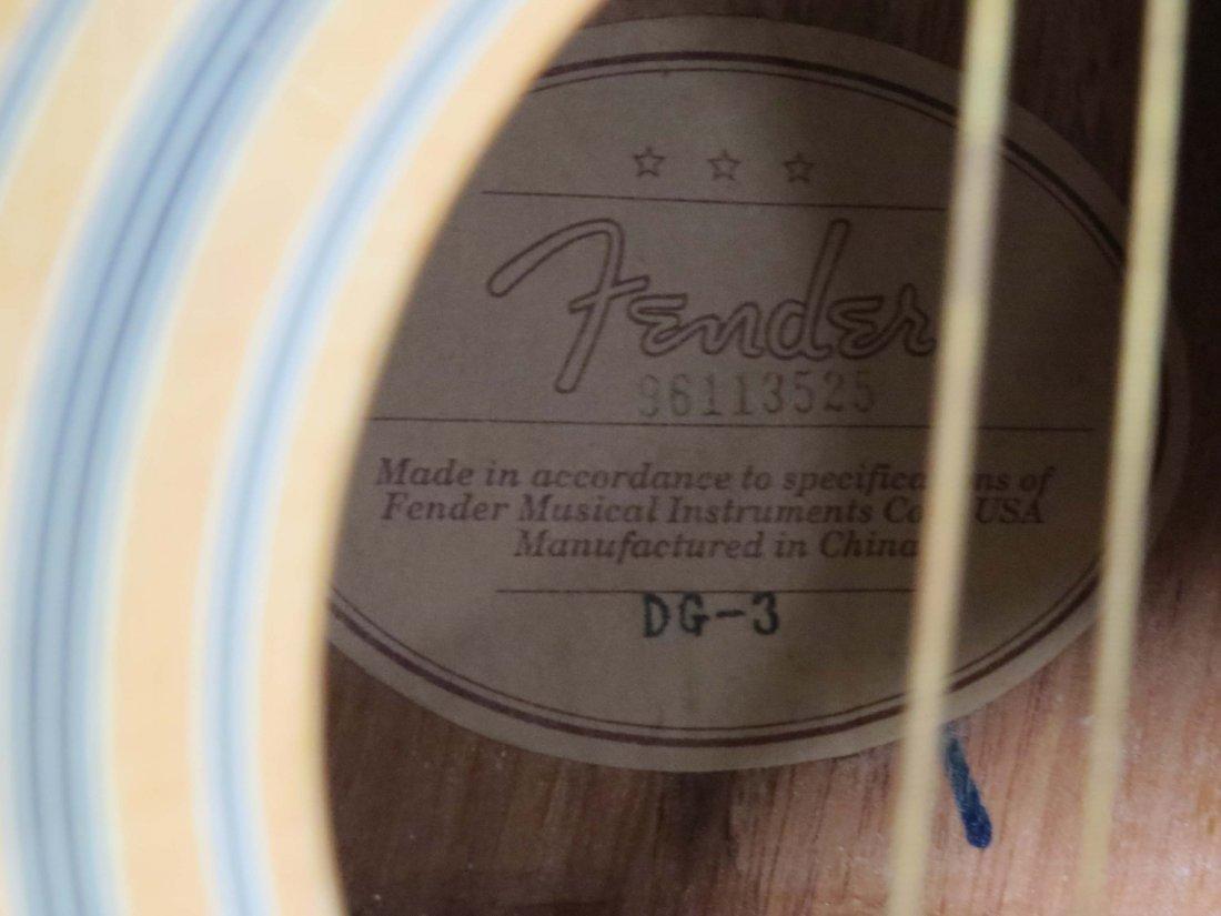 FENDER DG-3 ACOUSTIC GUITAR, #96113525 - 3
