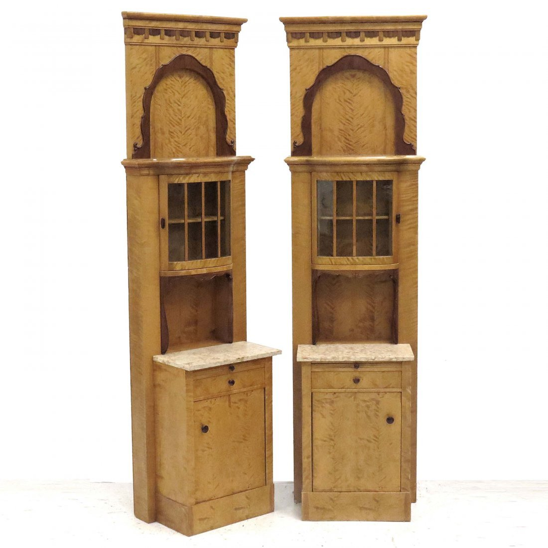 PAIR CONTINENTAL ART DECO CABINETS