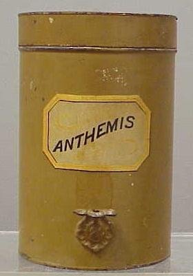1018: VINTAGE PAINTED TOLE APOTHECARY JAR