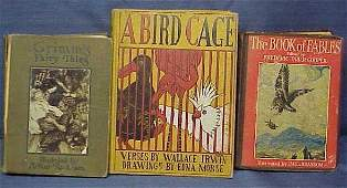 1513: LOT (3) VOLUMES INCLUDING A BIRD CAGE