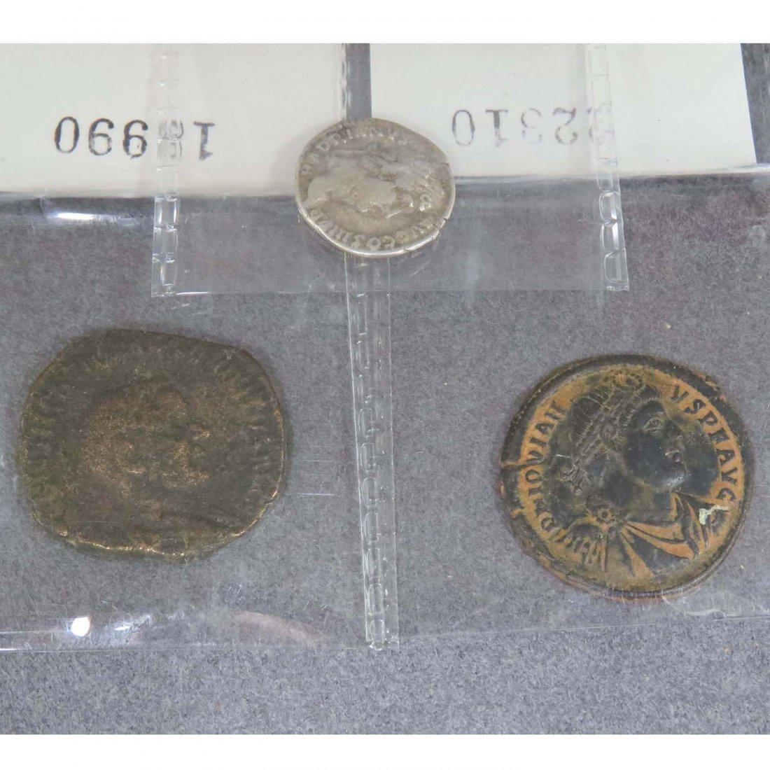 ROMAN, COIN LOT (3) INCLUDING HADRIAN, AR DENARIUS