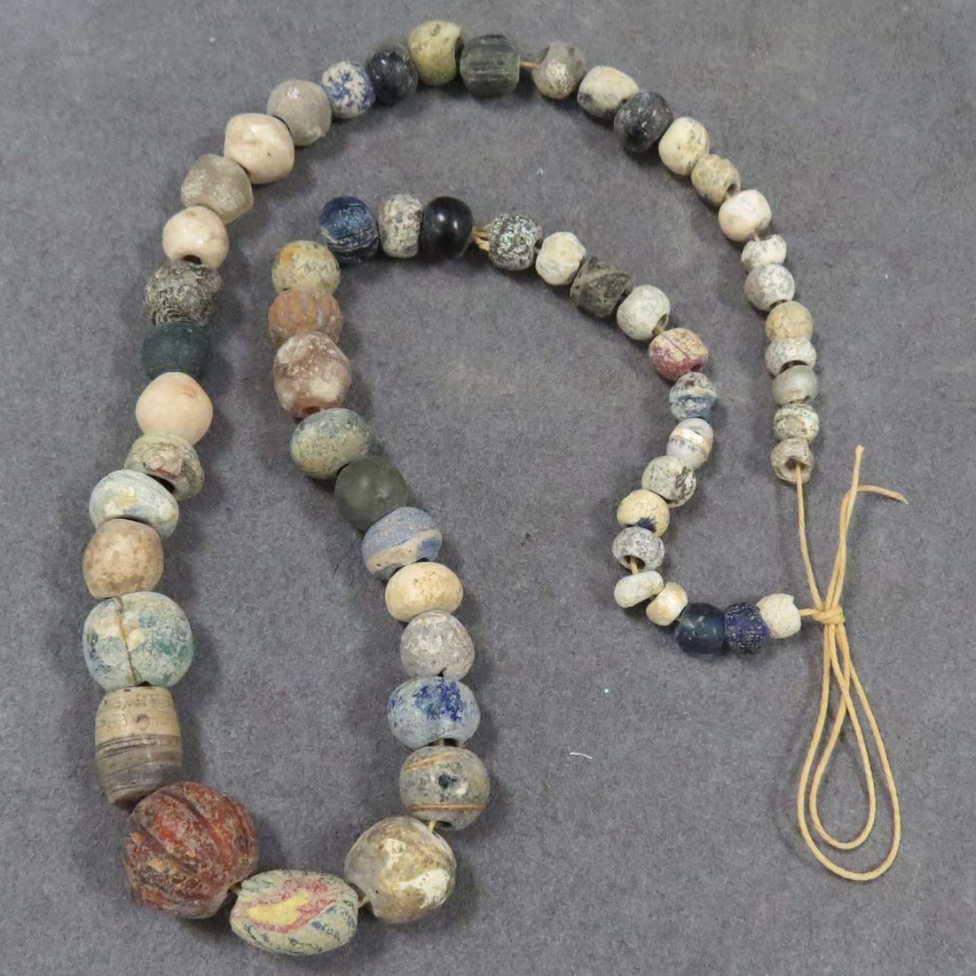 NEAR EASTERN/HOLY LAND AREA STRAND BEAD NECKLACE