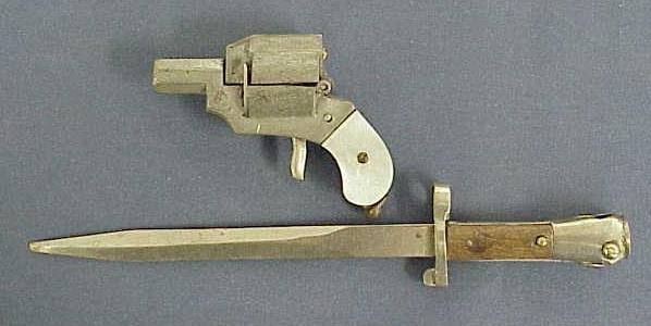 2014: (2) ART DECO CIGAR CUTTER/GUN LIGHTER