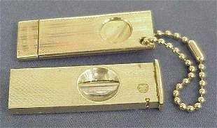 (2) VINTAGE SILVERPLATED CIGAR CUTTERS