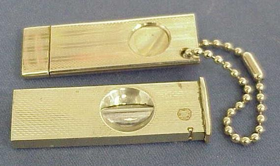 2020: (2) VINTAGE SILVERPLATED CIGAR CUTTERS