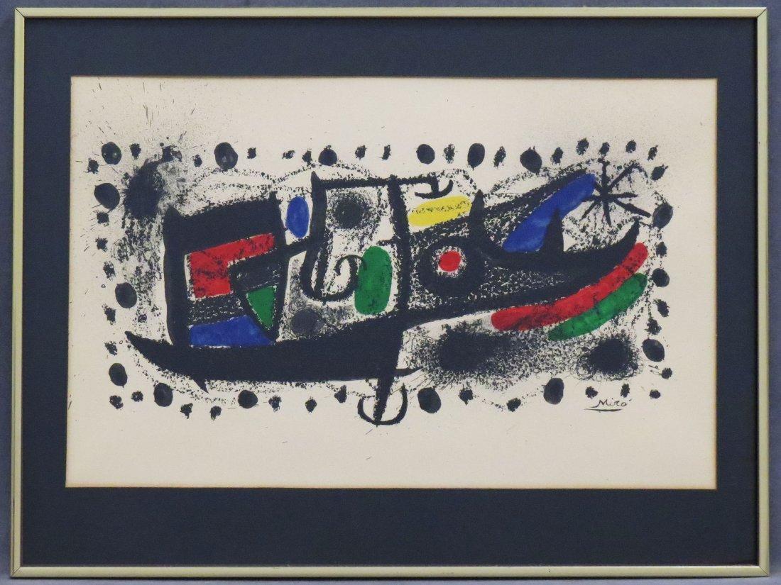 JOAN MIRO (SPANISH 1893-1983), LITHOGRAPH