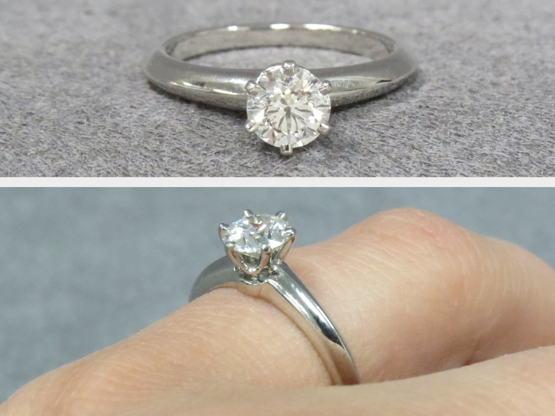 PLATINUM 950 TIFFANY & CO. DIAMOND 0.62 SOLITAIRE