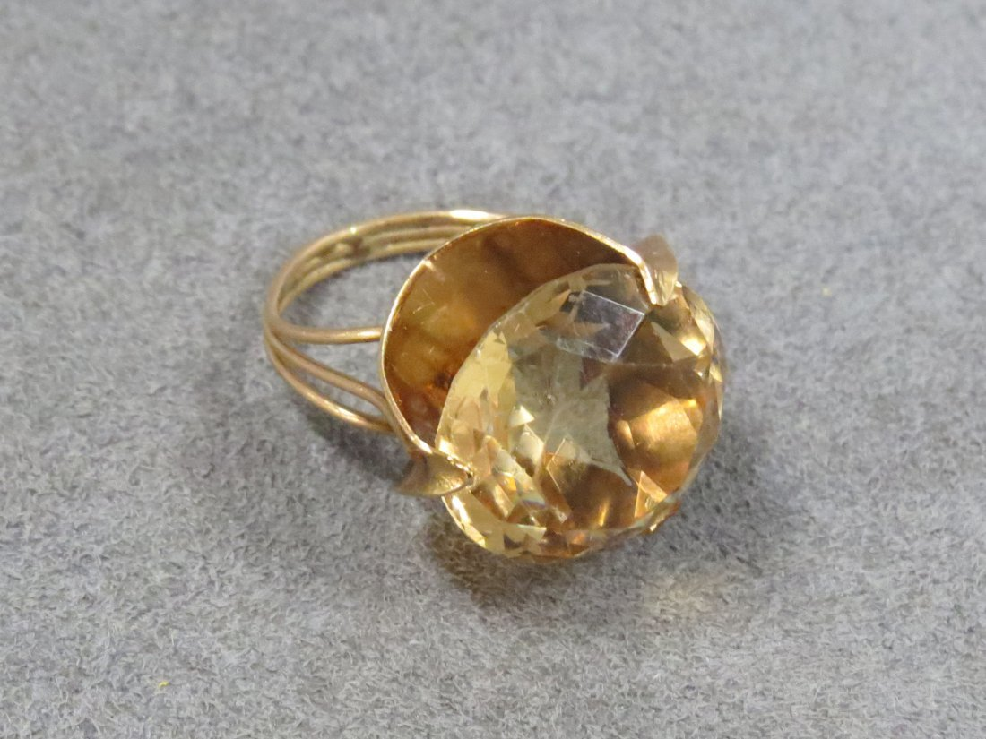 14K YELLOW GOLD AND 11.97CT HELIODOR (BERYL) RING - 3