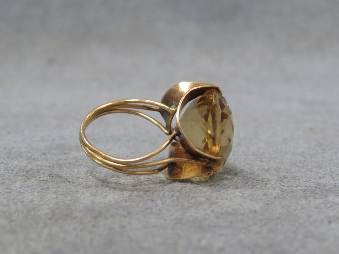 14K YELLOW GOLD AND 11.97CT HELIODOR (BERYL) RING - 4