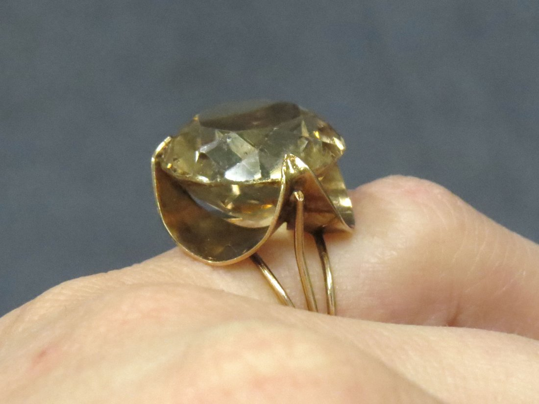 14K YELLOW GOLD AND 11.97CT HELIODOR (BERYL) RING - 5