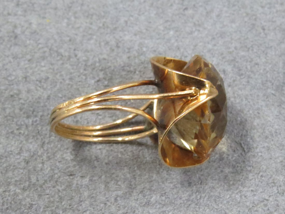14K YELLOW GOLD AND 11.97CT HELIODOR (BERYL) RING - 6