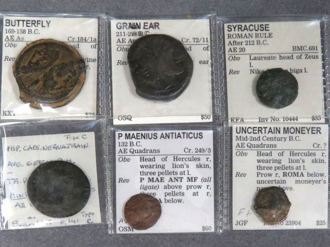 LOT (6) ASSORTED IMPERIAL ROMAN BRONZE COINS
