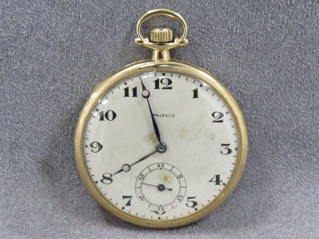 majestic watch co gold filled pocket watch
