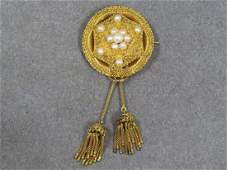 VICTORIAN ETRUSCAN DESIGN GILT PINK GOLD