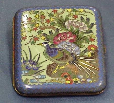 1: JAPANESE CLOISONNÉ GILT COPPER CIGARETTE CASE C.1920