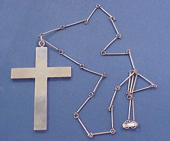 3: SILVER CROSS & BAR/LINK CHAIN