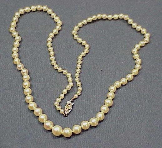 5: STRAND 3.10-7.0 MM GRADUATED CULTURED PEARL NECKLACE