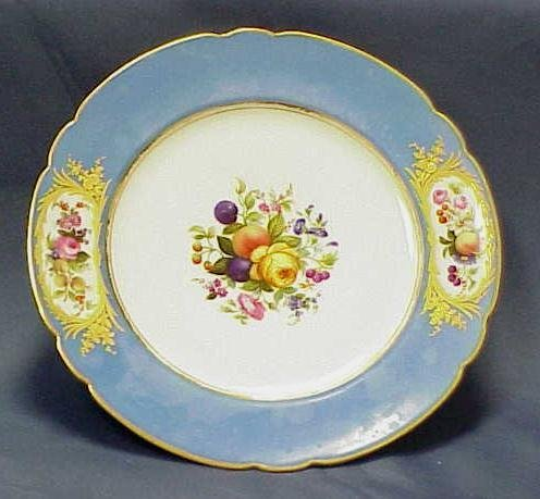 15: SET (12) OLD PARIS DECORATED PLATES, SIGNED BY RETA