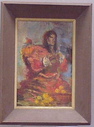 25: OIL ON CANVAS, FLAMENCO DANCER, SIGNED VASQUEZ PARR
